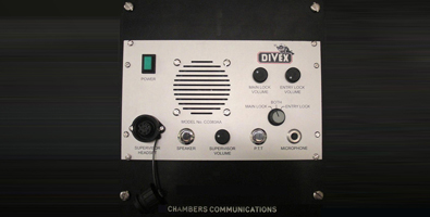 2 channel diver radio communications