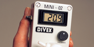 Divex portable O2 analyser